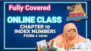 Online Class | Chapter 10 Index Numbers  Nombor Indeks   | Form 4 2020