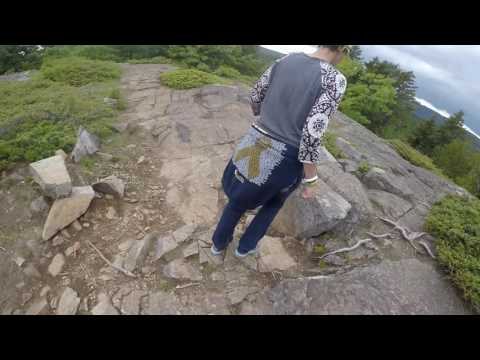 Hiking Flying Mountain, Acadia National Park