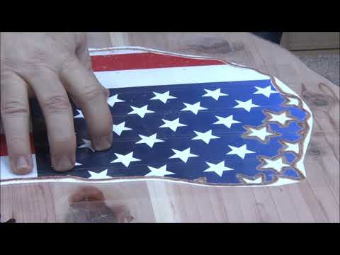 #266 Part 5 of 7 on John Malecki Wall Art Carving Stars & Stripes