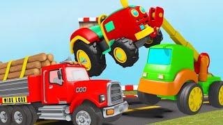 The Tractor broken down! Excavator help Tractor in cave~! TOYS
