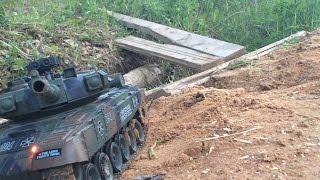 Танк Т-90 (household) на Р/У. Тести на вулиці