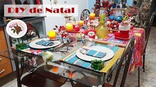 DIY de Natal – Toalhas + Jogo americanos + Guardanapos – Passo a Passo