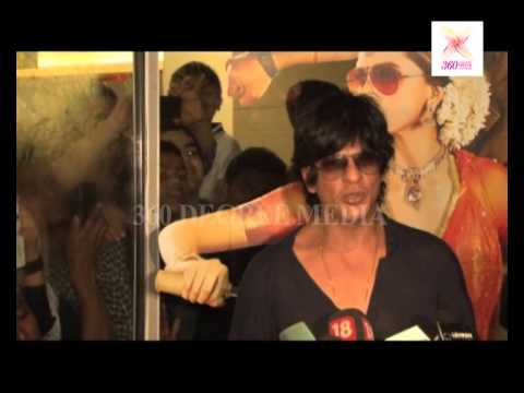 Shahrukh Khan on he did not see movie till now and want to see it with audience in cinema hall