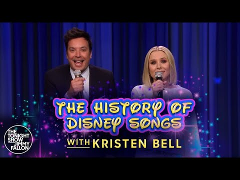Josh and Ariel in the Morning - Kristen Bell & Jimmy Fallon Sing A Medley Of Disney Classics!