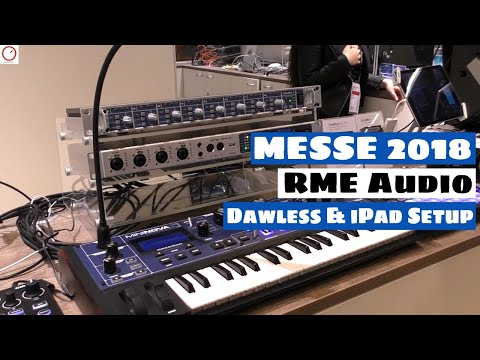MESSE 2018: RME Audio Interfaces Dawless & iPad Music Setup | SYNTH ANATOMY