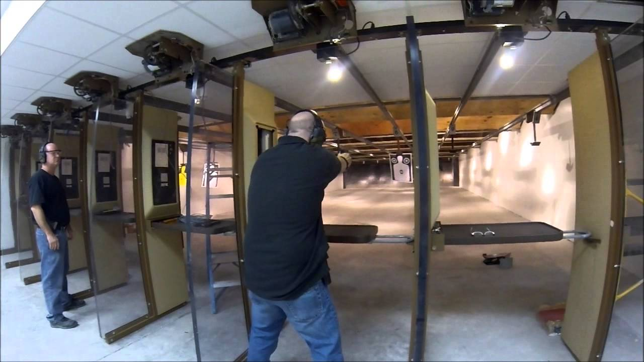 Shooting at the tallahassee indoor shooting range youtube for Indoor shooting range design uk