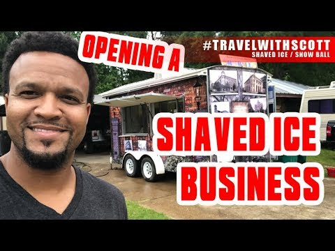 GETTING OUR SHAVED ICE TRAILER - #TravelWithScott