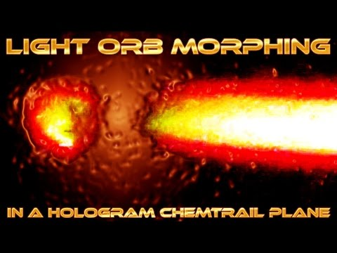 LIGHT ORB morphing into a CHEMTRAIL HOLOGRAM PLANE -  Caught on Camera on June 12 2016