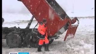 Незаконную свалку грязного снега обнаружили жители Ленинского района