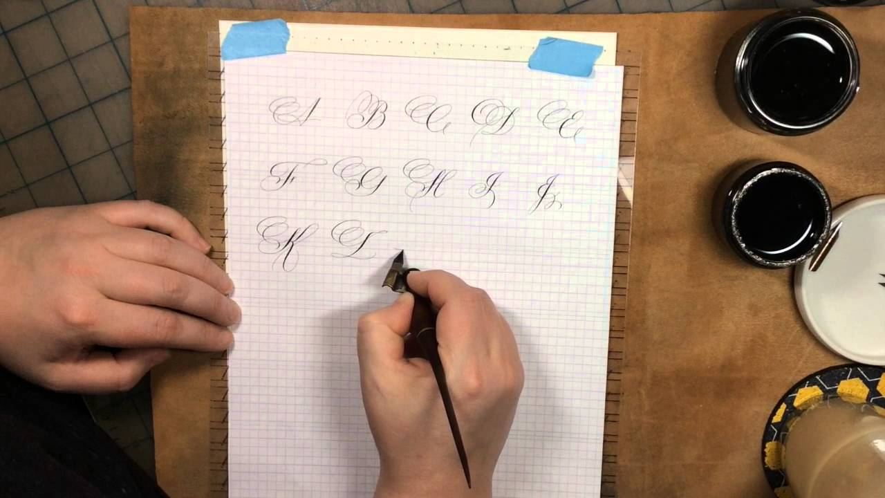 Spencerian exemplar calligraphy by hoang youtube