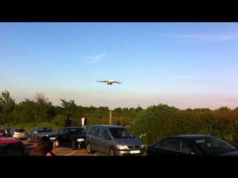Antonov 225 landing at East Midlands Airport