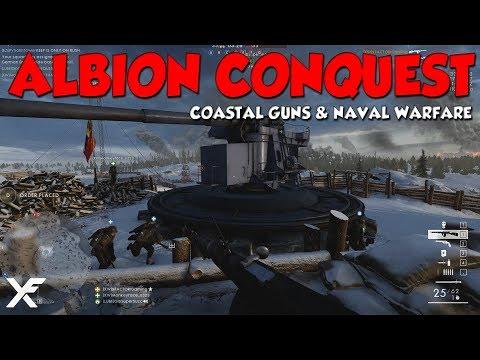 ALBION CONQUEST - Battlefield 1 NEW MAP - Coastal Guns, Landing Craft & Naval Warfare