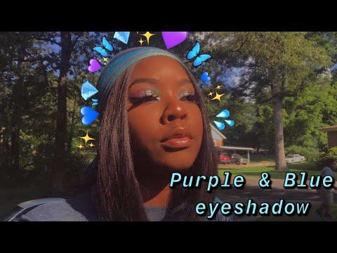 Purple And Blue Eyeshadow Look