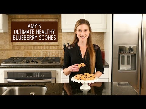 The Ultimate Healthy Blueberry Scones | Amy's Healthy Baking