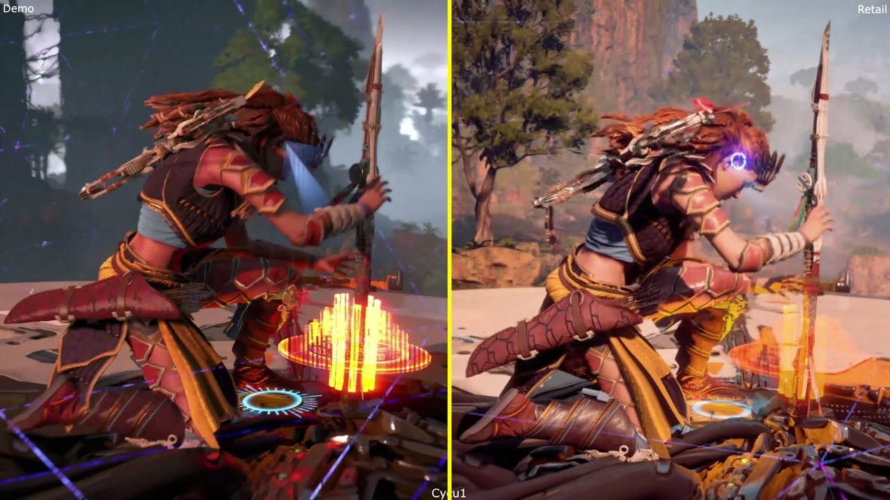 Horizon Zero Dawn PS4 Pro 2016 Presentation Demo vs Retail 2017 4K ...