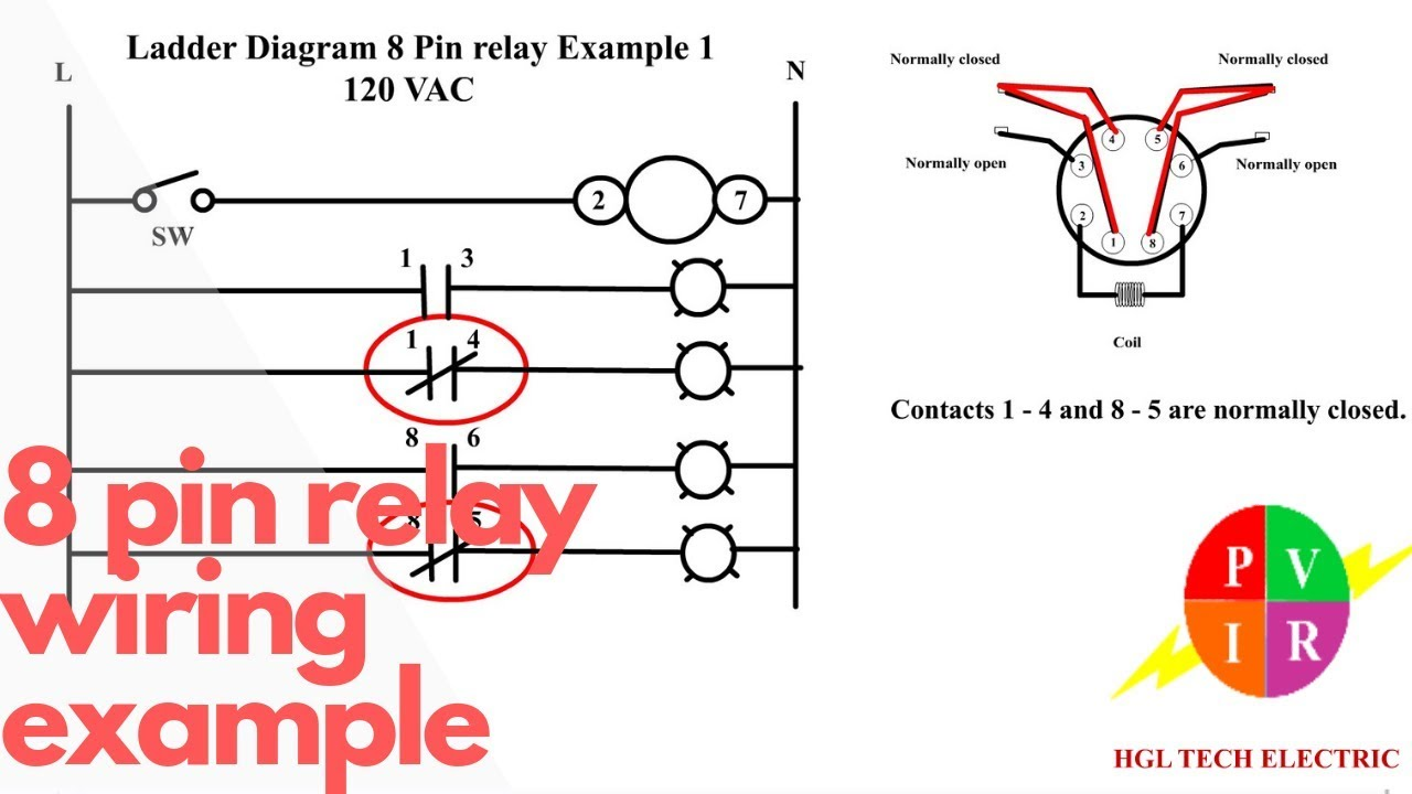 8 Pin Relay Wiring. Relay Connection. 8 Pin Relay