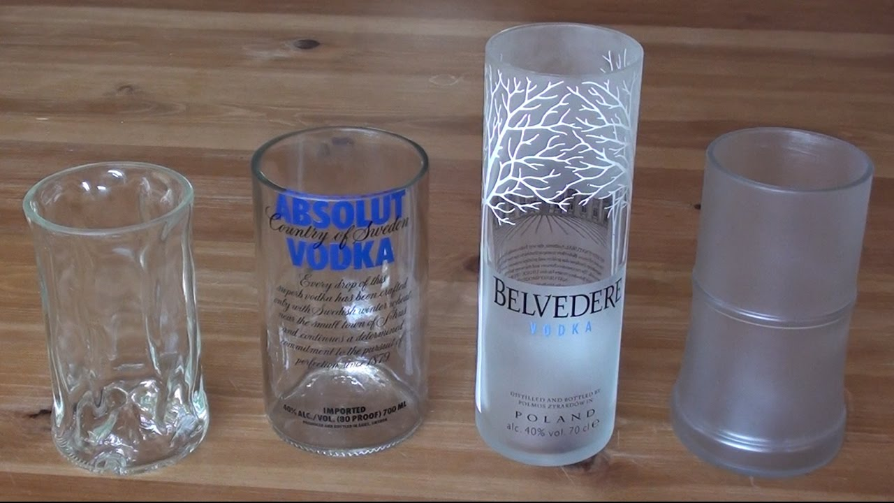 How To Make A Recycled Drinking Glass From A Vodka Bottle Youtube