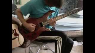 """Cody Wright bass loop jam """"Owner of a Lonely Heart (YES)"""""""