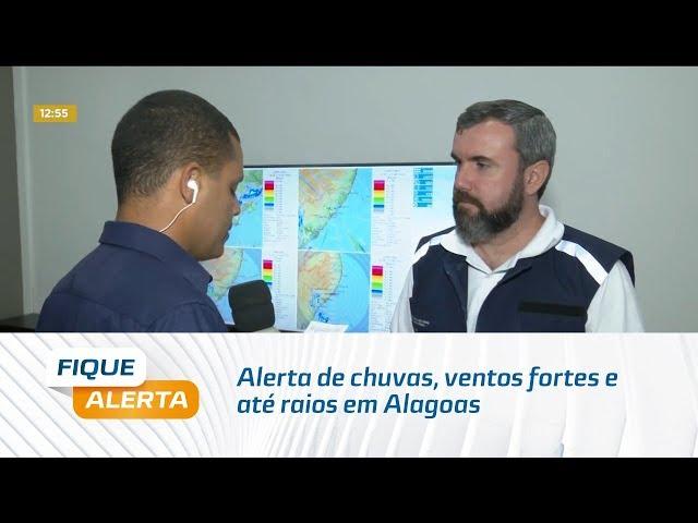Alerta de chuvas, ventos fortes e até raios em Alagoas