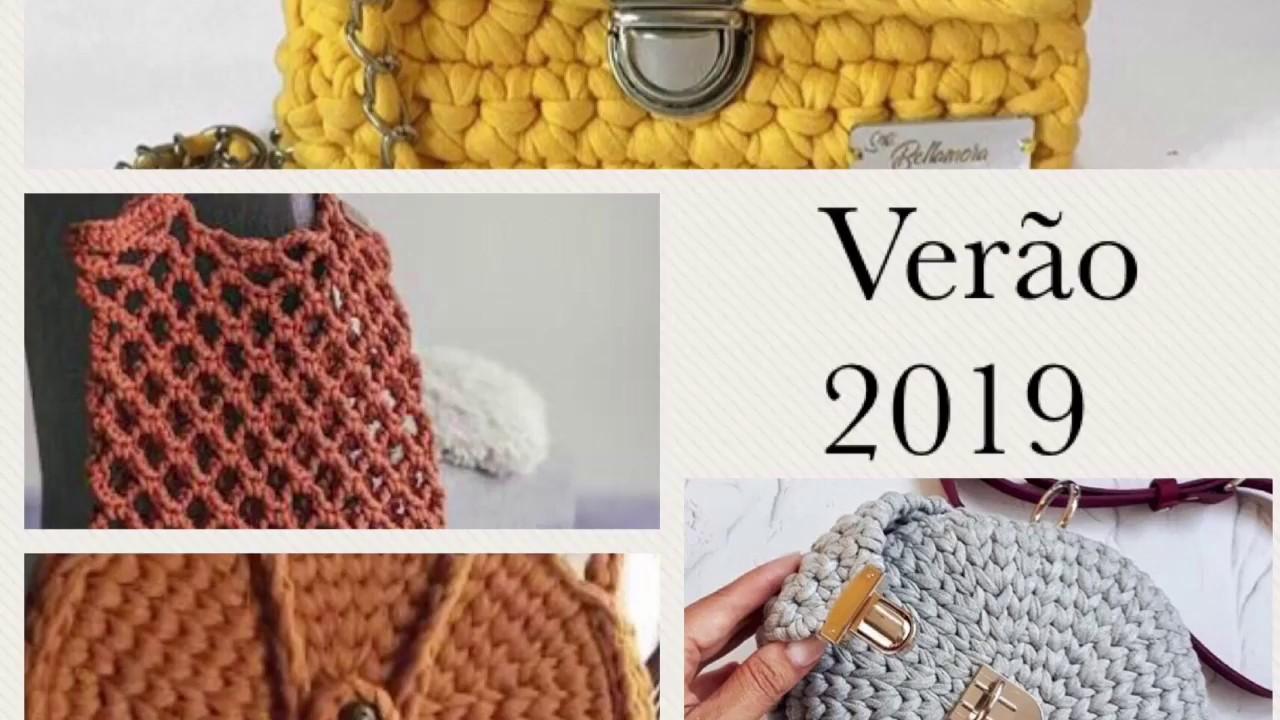 Tendências de Bolsas Primavera- Verão 2019 em crochê com estilo #1 #1