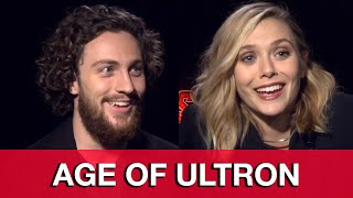 Avengers Age of Ultron Interview: Aaron Taylor-Johnson & Elizabeth Olsen Quicksilver & Scarlet Witch