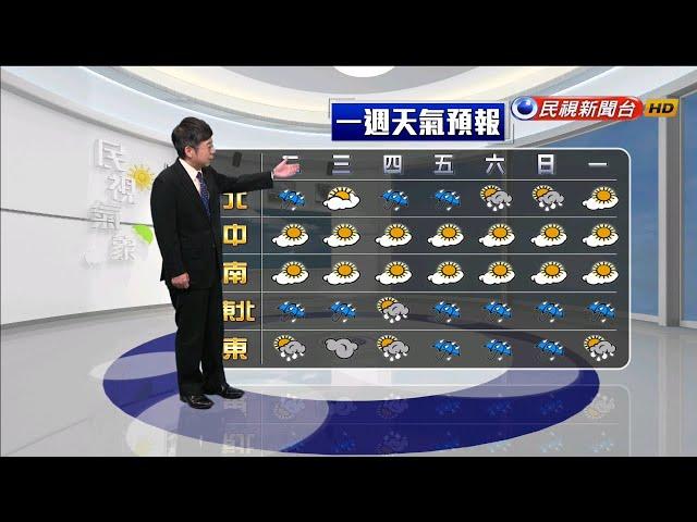 2020/01/14 週三清晨前冷氣團影響 北部及東部稍冷-民視新聞