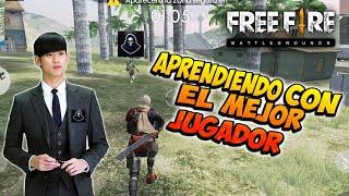 APRENNDO CON EL MEJOR JUGADOR DE FREE FIRE *vídeo reacción* SOLO VS SQUAD