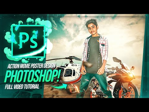 How To Edit The Hero Action Movie Poster Design   Photoshop Tutorial   BOSS GFX thumbnail
