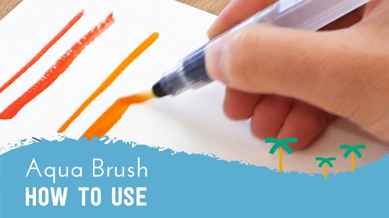 Colored Water Brush How To Use A Water Brush Pen Aqua Brush Tutorial Stationery Island
