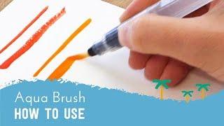 How to Use a Waтer Brush Pen - Aqua Brush Tutorial | Stationery Island