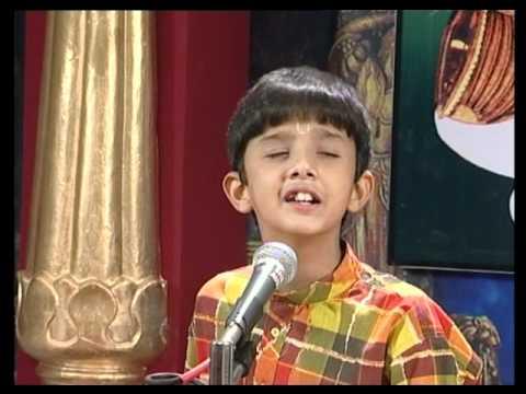 Carnatic Music by child prodigy - Balaganam 01  Gana Nathaney