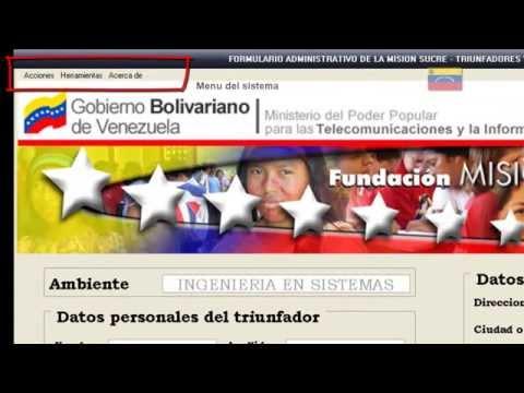 Sistema Administrativo Mision Sucre Estado Falcon - Venezuela de YouTube · Alta definición · Duración:  7 minutos 21 segundos  · Más de 1.000 vistas · cargado el 27.08.2010 · cargado por kazakanjes
