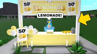 I Started My Own Lemonade Stand In Bloxburg And Became Rich Youtube