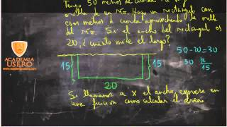 50 metros de cuerda y rectángulo en orilla río Matemáticas Acceso CFGS Academia Usero Estepona