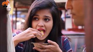 spicy pani puri with mirchi challenge
