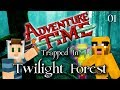 Adventure Time Minecraft : TRAPPED IN TWILIGHT FOREST - Ep 01 Magic Man