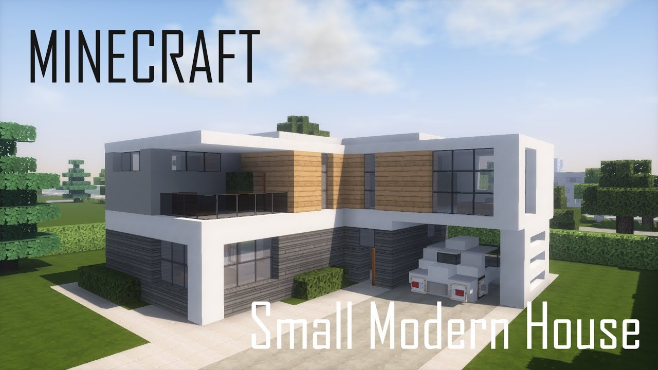 Minecraft Small Modern House 5 (full interior) + Download ...