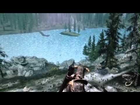 Skyrim flickering water