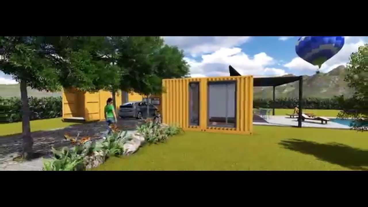 Casas hechas con contenedores mar timos youtube - Casa hecha con contenedores ...