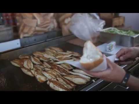 Istanbul Street Food | Fish Sandwich (balik Ekmek) | Turkey Street Food