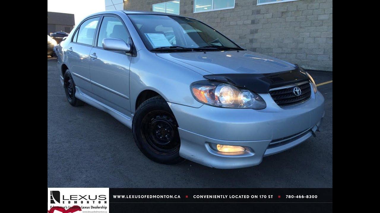 Used Silver 2007 Toyota Corolla Auto Sport Review | Medicine Hat Alberta