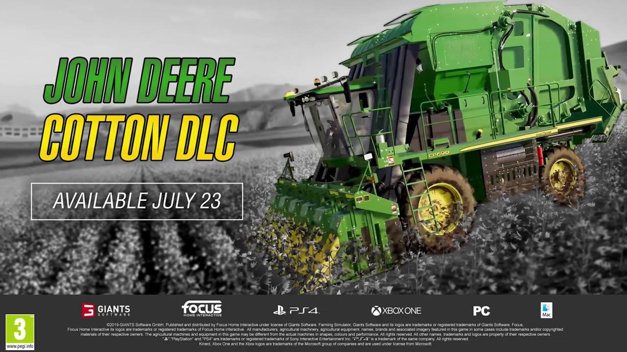 Farming Simulator 19 - John Deere Cotton DLC #FarmingSimulator19 #FS19