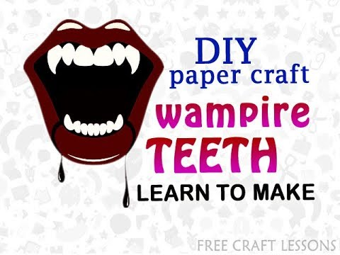 how to make vampire teeth scary halloween prop easy diy paper craft free craft lessons