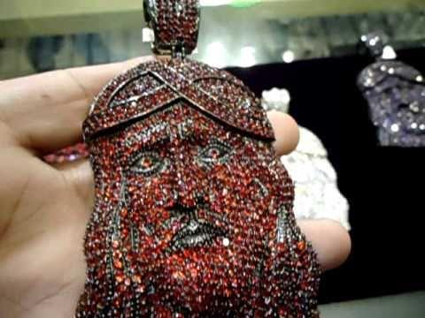 68033f6292c29 Mr Chris Da Jeweler Custom Lab Diamond Crushed Iced Out Jesus