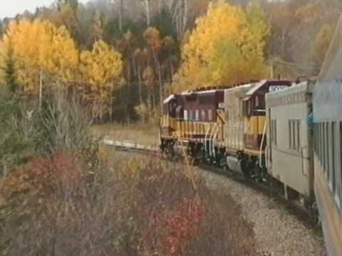 Riding the Algoma Central Railway (Canada)
