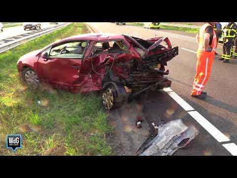 Ravage bij ongeval op A2 bij Nederweert