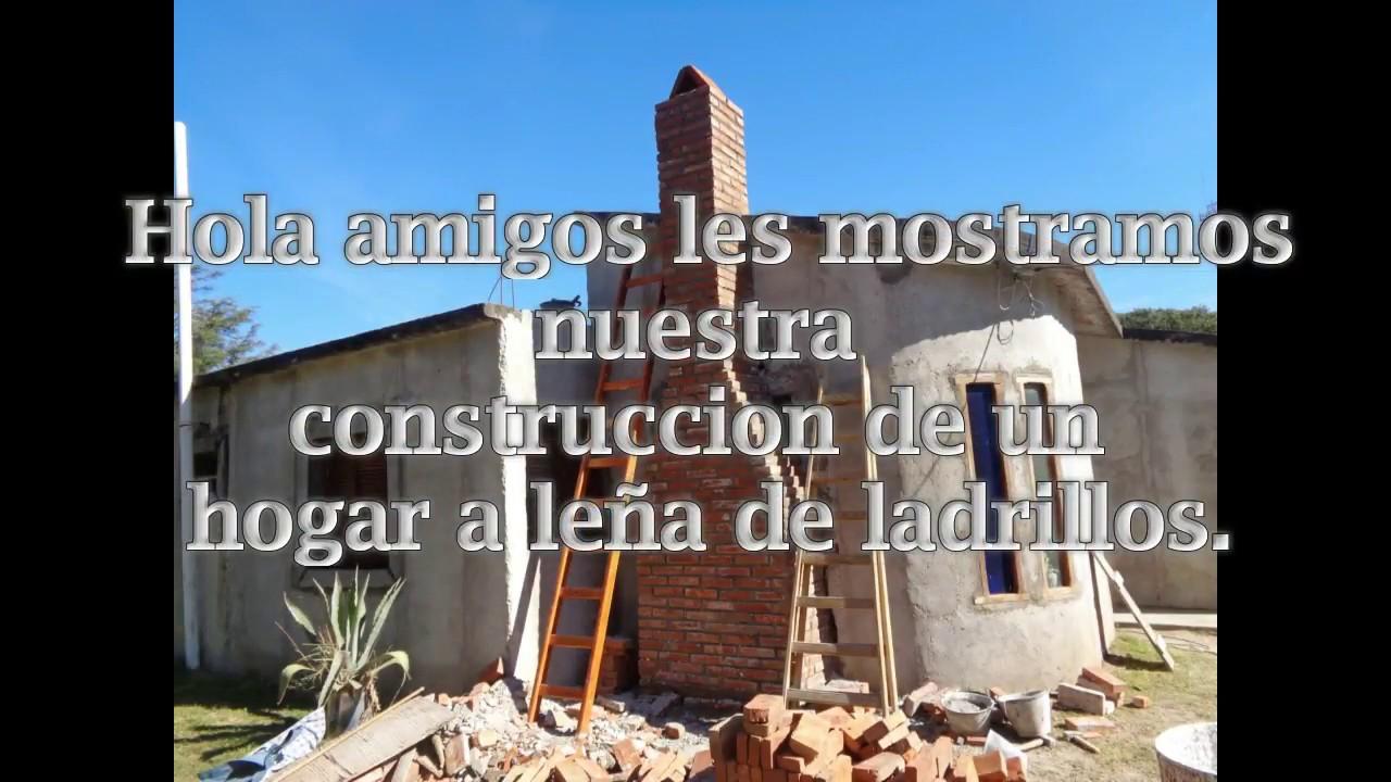 construccion de hogar a le a de ladrillos youtube