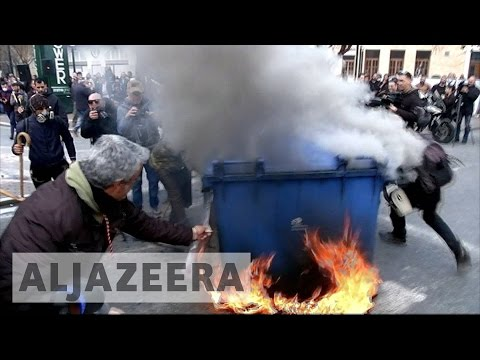 Riots in Greece as farmers protest austerity cuts