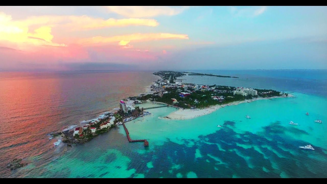 Isla Mujeres Drone Video 4k 2017