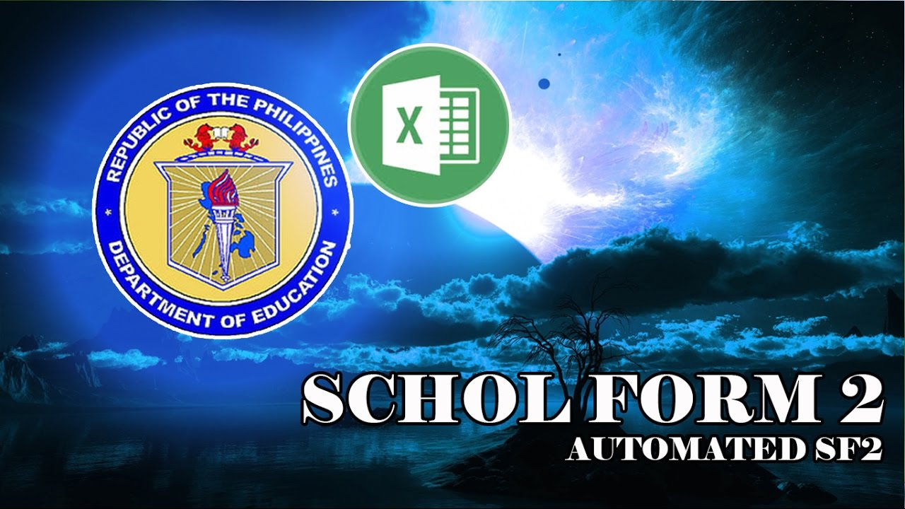 School Form 2 - SF2 ( Automated Attendance Sheet for Students ) SY  2016-2017 UPDATES!!!!